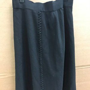 AUTHENTIC Chanel Knee length A-Line Black Skirt